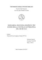 Ildegarda, Eleonora, Beatrice. Tre donne nella cultura e letteratura del XII secolo