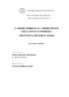 L'amoreterreno e l'amore divino nella Divina Commedia. Francesca, Beatrice, Maria (A50)