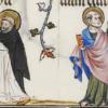 Il sogno di papa Innocenzo III, dal Breviarium ad usum fratrum predicatorum, 1324-1326